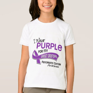 I Wear Purple 42 Great Grandpa Pancreatic Cancer T-Shirt