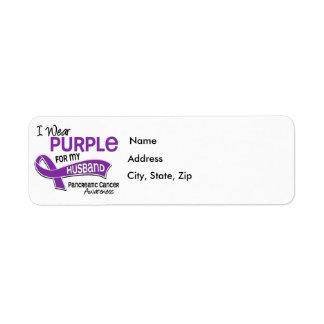 I Wear Purple 42 Husband Pancreatic Cancer Label