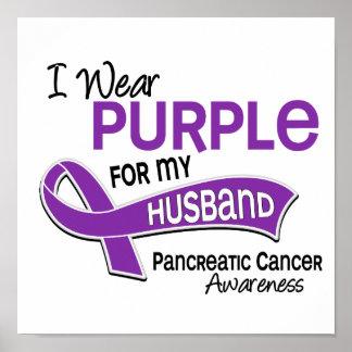 I Wear Purple 42 Husband Pancreatic Cancer Print