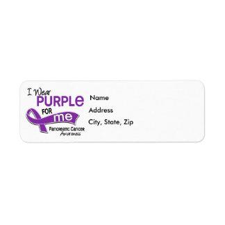 I Wear Purple 42 Me Pancreatic Cancer Label
