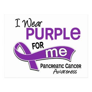 I Wear Purple 42 Me Pancreatic Cancer Postcard