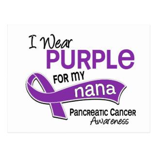 I Wear Purple 42 Nana Pancreatic Cancer Postcard