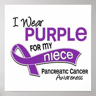I Wear Purple 42 Niece Pancreatic Cancer Poster