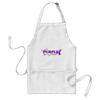 I Wear Purple Adult Apron