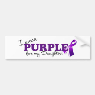 I Wear Purple Bumper Sticker
