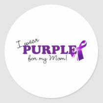 I Wear Purple Classic Round Sticker