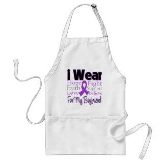 I Wear Purple Collage Boyfriend - Pancreatic Cance Apron