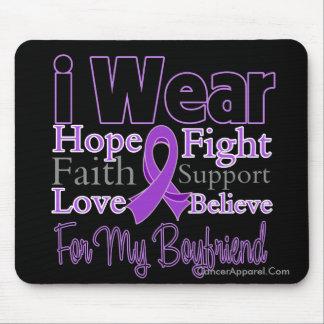 I Wear Purple Collage Boyfriend - Pancreatic Cance Mouse Pad