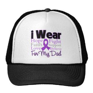 I Wear Purple Collage Dad - Pancreatic Cancer Trucker Hat