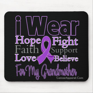 I Wear Purple Collage Grandmother - Pancreatic Can Mouse Pad
