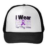 I Wear Purple Collage Hero - Pancreatic Cancer Trucker Hat