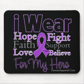 I Wear Purple Collage Hero - Pancreatic Cancer Mouse Pad