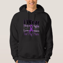 I Wear Purple Collage Mom - Pancreatic Cancer Hoodie