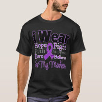 I Wear Purple Collage Mother - Pancreatic Cancer T-Shirt
