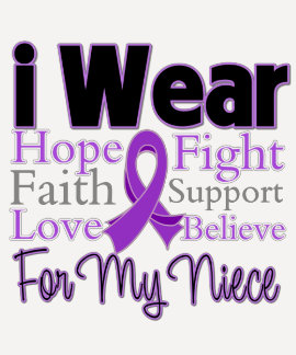 I Wear Purple Collage Niece - Pancreatic Cancer T-shirt