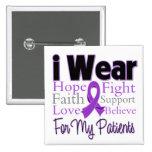 I Wear Purple Collage Patients - Pancreatic Cancer Pinback Button