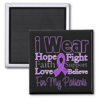 I Wear Purple Collage Patients - Pancreatic Cancer Fridge Magnet