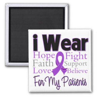 I Wear Purple Collage Patients - Pancreatic Cancer Magnets