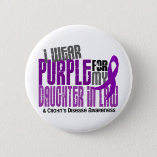 I Wear Purple Daughter-In-Law 6 Crohn's Disease Pinback Button