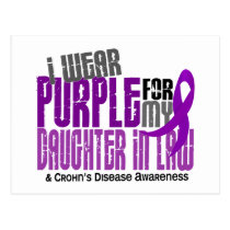 I Wear Purple Daughter-In-Law 6 Crohn's Disease Postcard