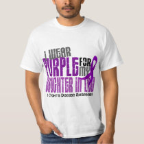 I Wear Purple Daughter-In-Law 6 Crohn's Disease T-Shirt