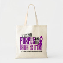 I Wear Purple Daughter-In-Law 6 Crohn's Disease Tote Bag
