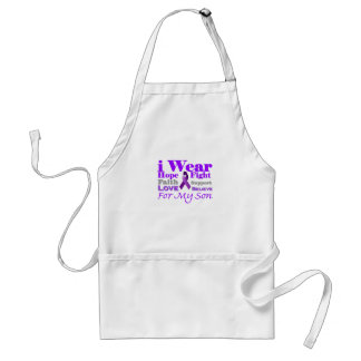 I Wear Purple (Epilepsy) for My Son Products Adult Apron