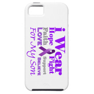 I Wear Purple (Epilepsy) for My Son Products iPhone 5/5S Cases