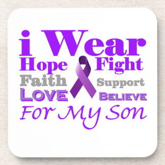 I Wear Purple (Epilepsy) for My Son Products Beverage Coaster