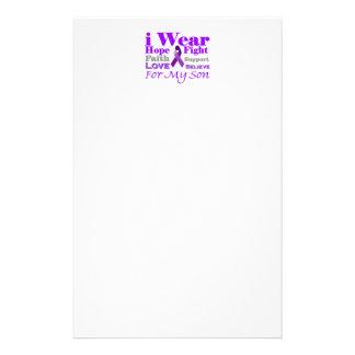 I Wear Purple (Epilepsy) for My Son Products Custom Stationery