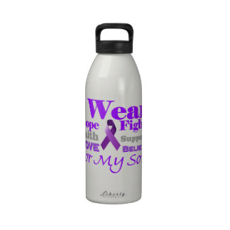 I Wear Purple (Epilepsy) for My Son Products Drinking Bottle