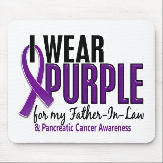 I Wear Purple Father-In-Law 10 Pancreatic Cancer Mouse Pad