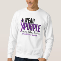 I Wear Purple Father-In-Law 10 Pancreatic Cancer Sweatshirt