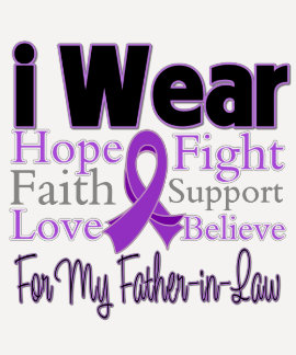 I Wear Purple Father-in-Law - Pancreatic Cancer Shirts
