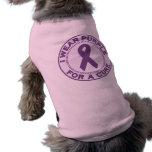 I Wear Purple For A Cure Dog T Shirt