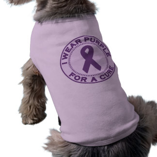 I Wear Purple For A Cure Dog Tee
