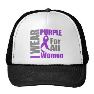 I Wear Purple For All Women Domestic Violence Trucker Hat