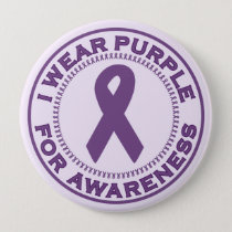 I Wear Purple For Awareness Pinback Button