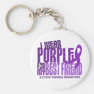 I Wear Purple For Best Friend 6.4 Cystic Fibrosis Basic Round Button Keychain