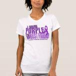 I Wear Purple For Best Friend 6.4 Cystic Fibrosis T Shirt