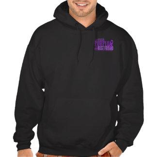 I Wear Purple For Best Friend 6.4 Cystic Fibrosis Hoody