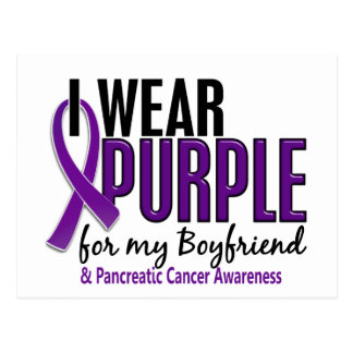 I Wear Purple For Boyfriend 10 Pancreatic Cancer Postcard