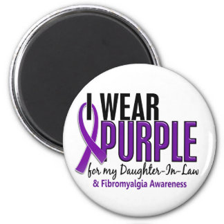 I Wear Purple For Daughter-In-Law 10 Fibromyalgia 2 Inch Round Magnet