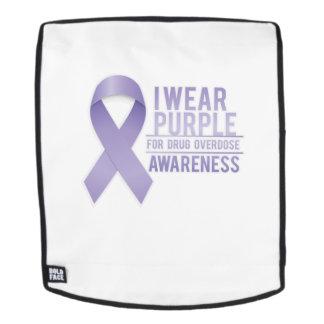 I Wear Purple For Drug Overdose Awareness Gift Backpack