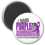 I Wear Purple For Granddaughter 6 Crohn's Disease 2 Inch Round Magnet
