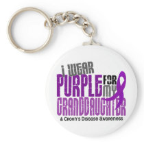I Wear Purple For Granddaughter 6 Crohn's Disease Keychain