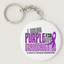 I Wear Purple For Granddaughter 6 Crohn's Disease Keychain