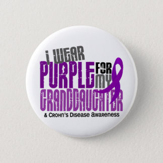 I Wear Purple For Granddaughter 6 Crohn's Disease Pinback Button