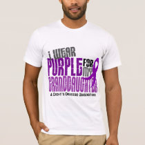 I Wear Purple For Granddaughter 6 Crohn's Disease T-Shirt