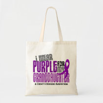 I Wear Purple For Granddaughter 6 Crohn's Disease Tote Bag